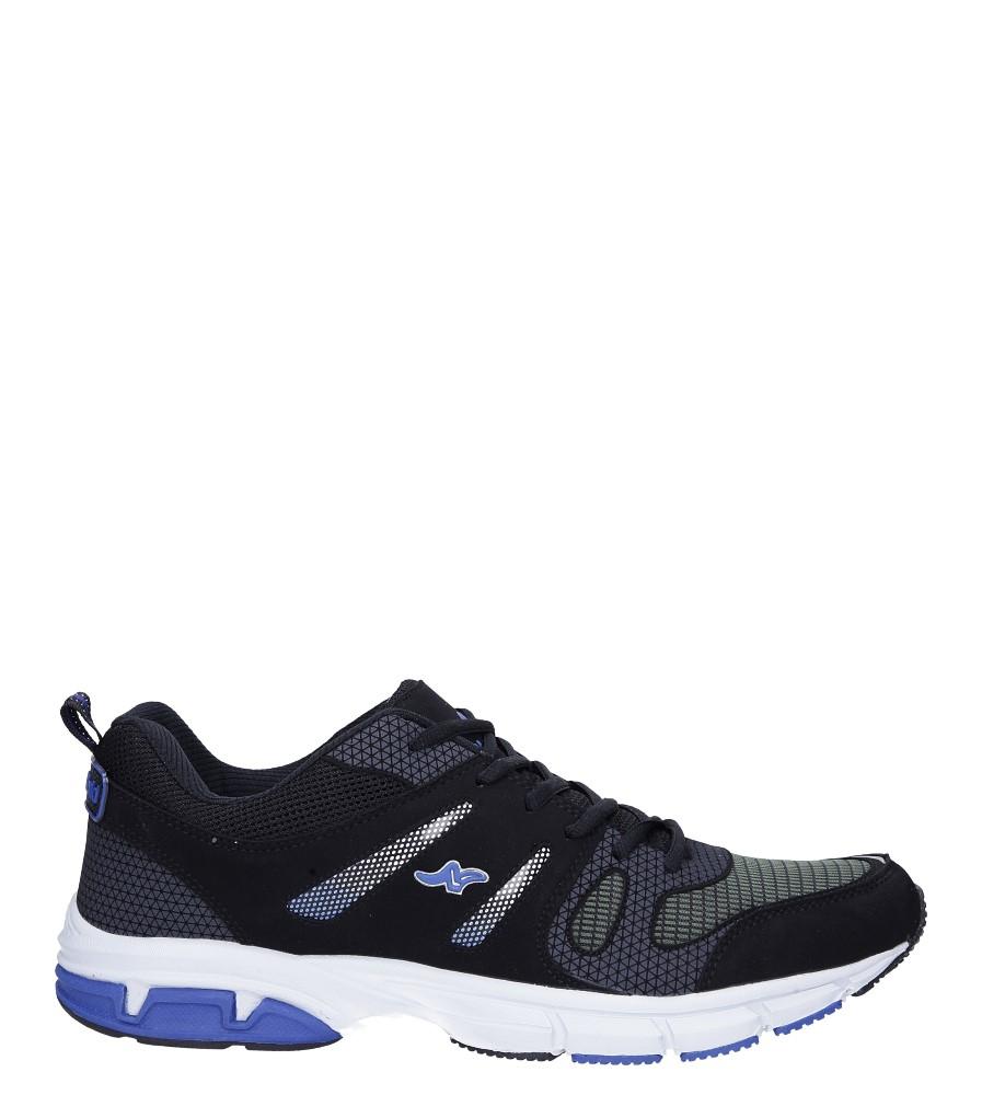 Czarne buty sportowe sznurowane Casu 18027