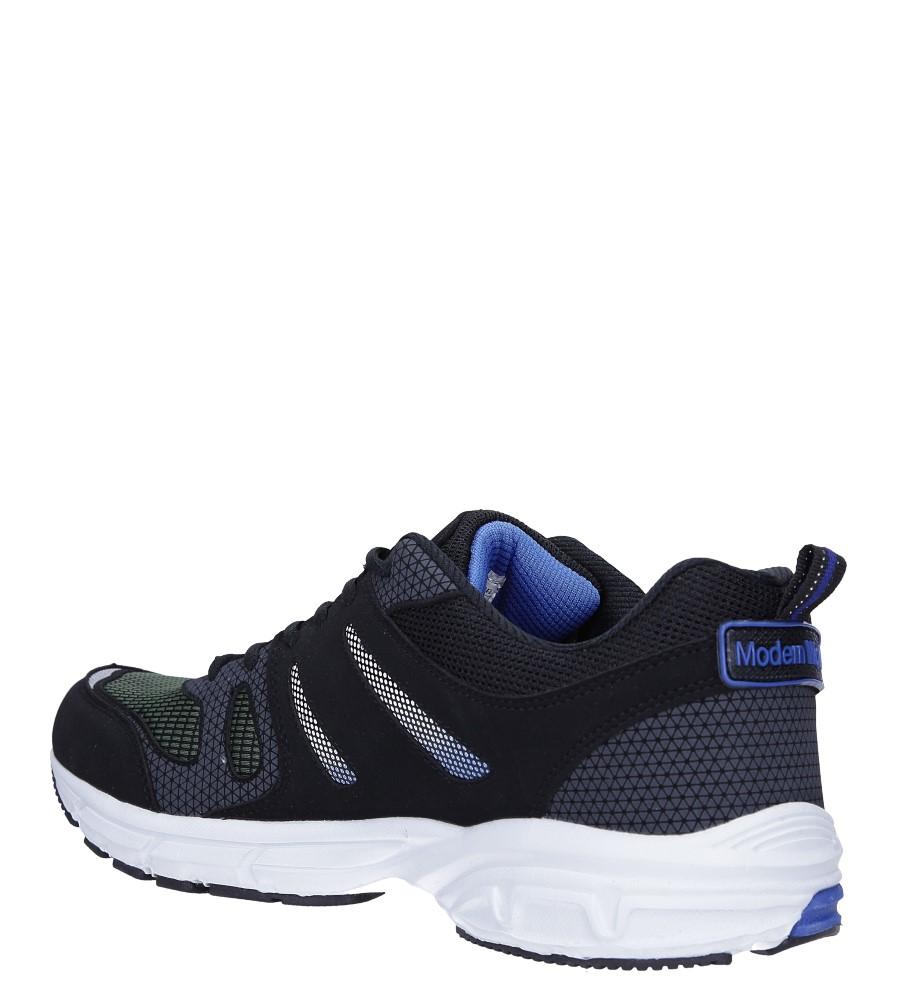 Czarne buty sportowe sznurowane Casu 18027 sezon Całoroczny