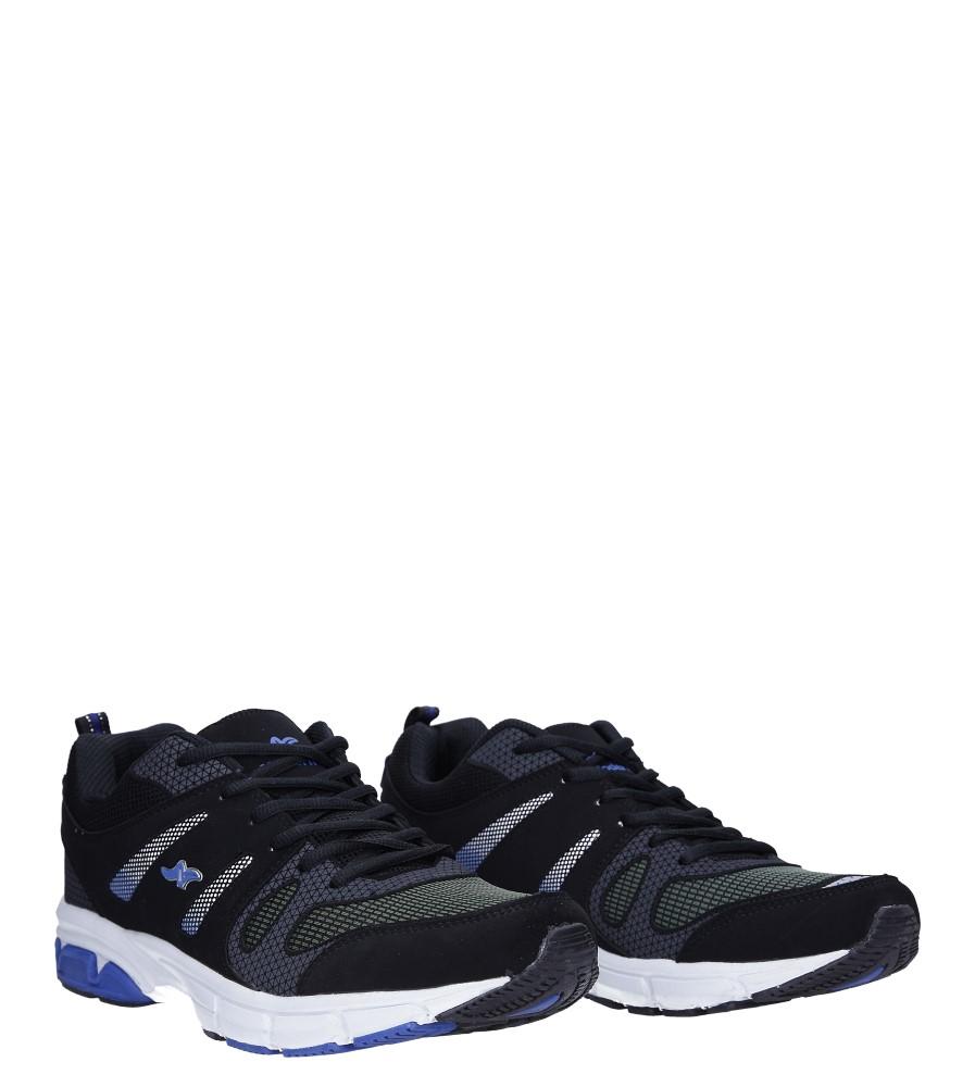 Czarne buty sportowe sznurowane Casu 18027 kolor czarny
