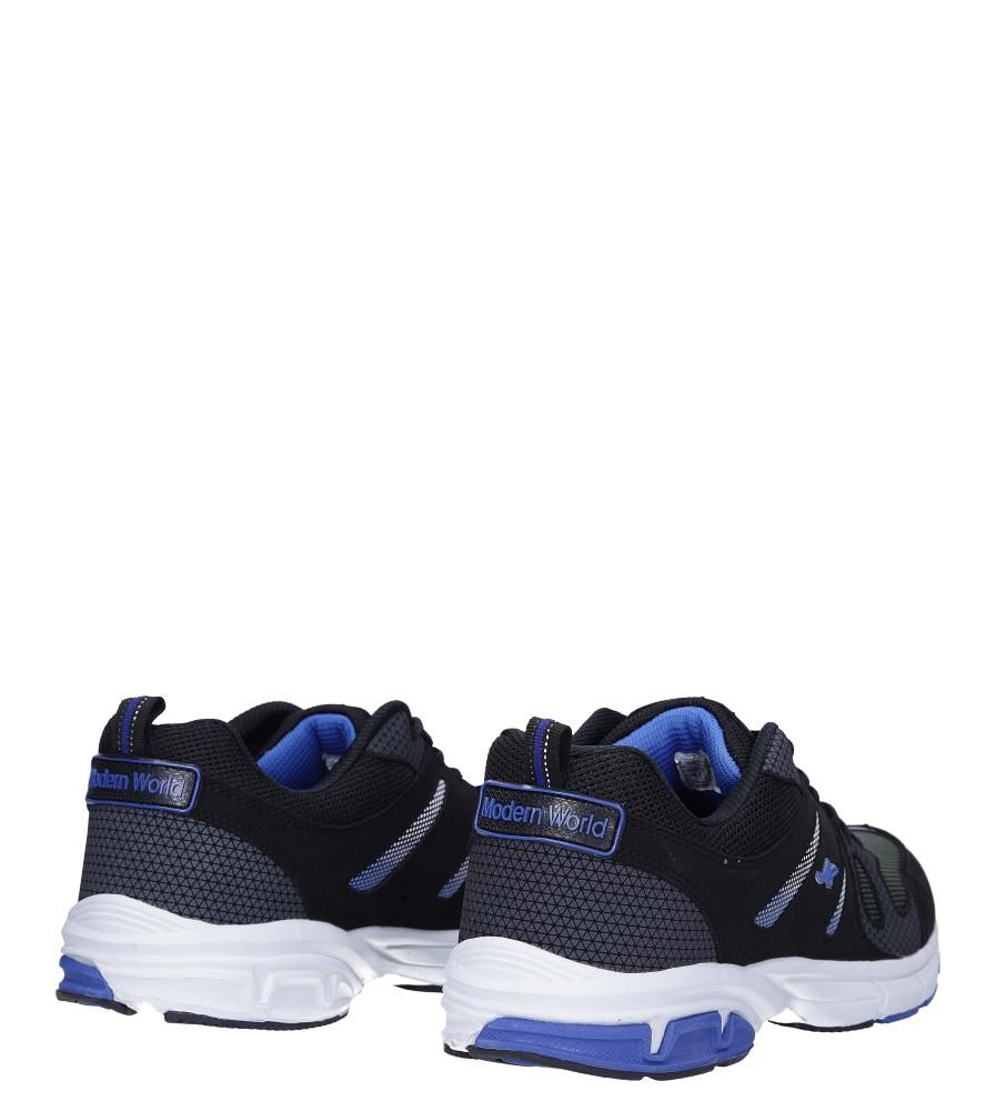 Czarne buty sportowe sznurowane Casu 18027 wysokosc_platformy 2 cm