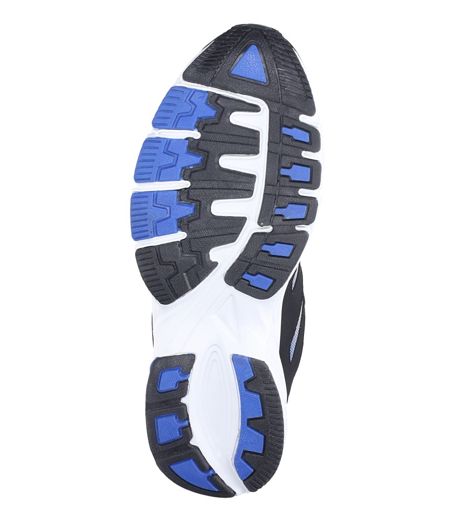 Czarne buty sportowe sznurowane Casu 18027 wierzch materiał
