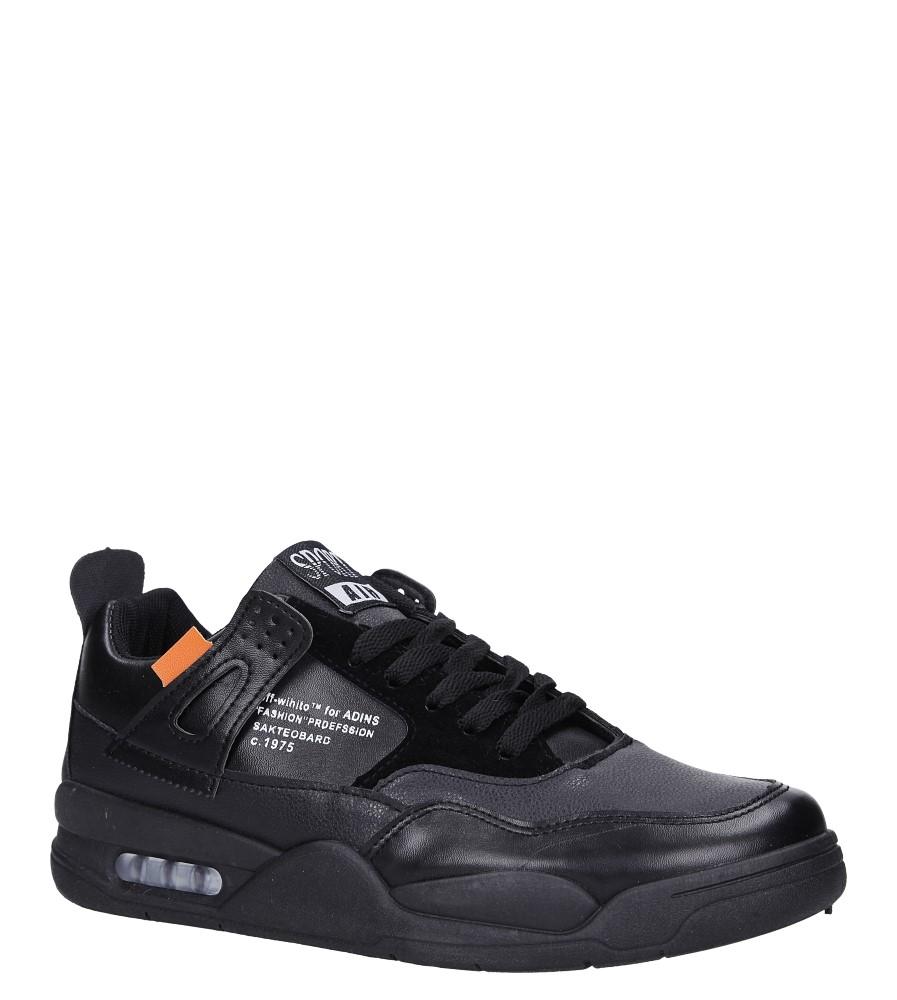 Czarne buty sportowe sznurowane Casu 191