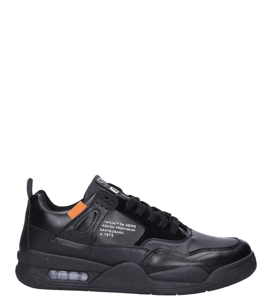 Czarne buty sportowe sznurowane Casu 191 czarny
