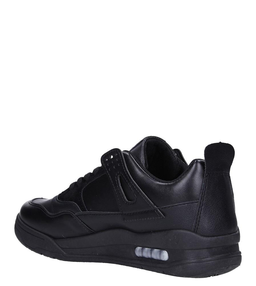 Czarne buty sportowe sznurowane Casu 191 sezon Całoroczny