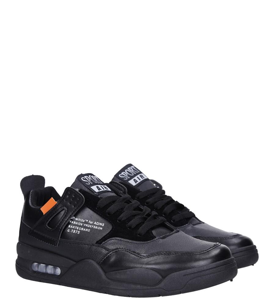 Czarne buty sportowe sznurowane Casu 191 kolor czarny