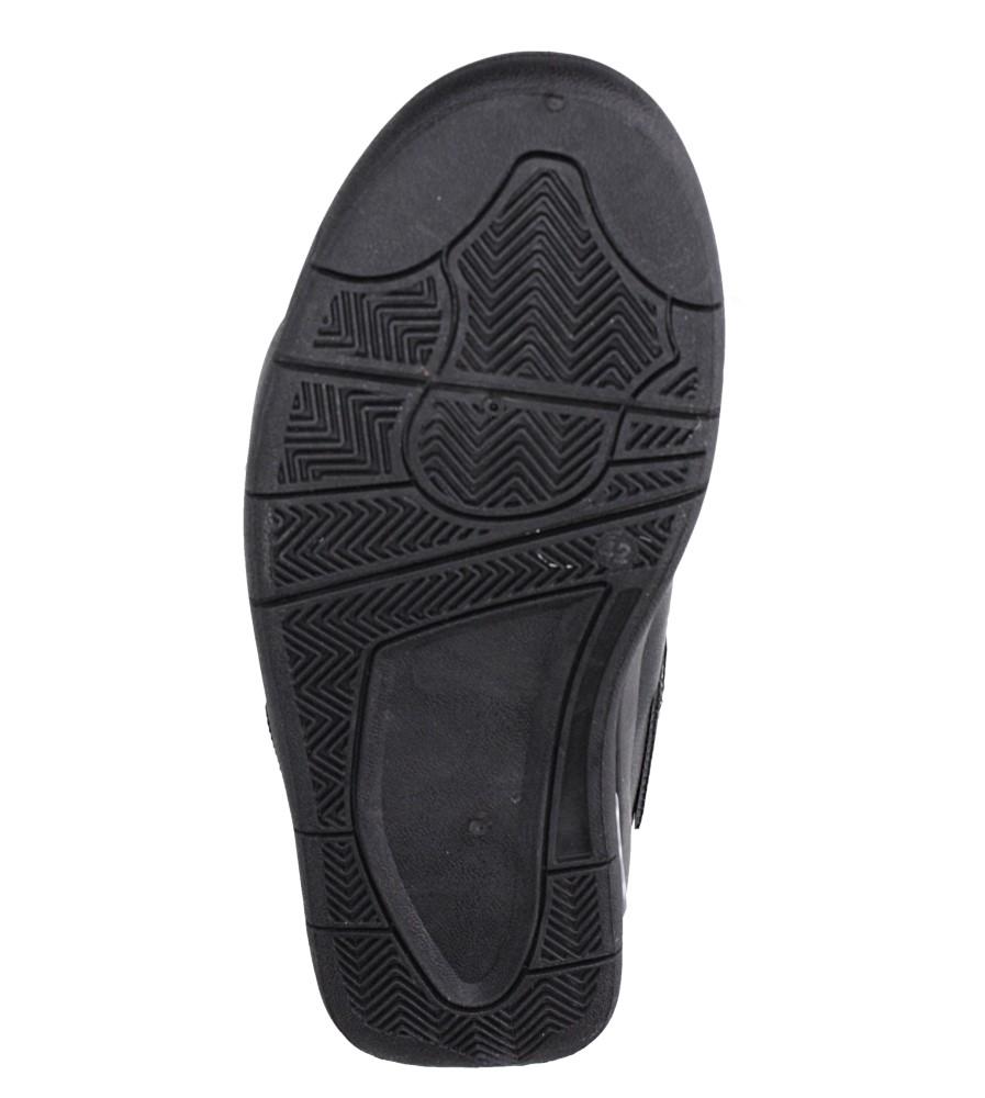 Czarne buty sportowe sznurowane Casu 191 wierzch skóra ekologiczna