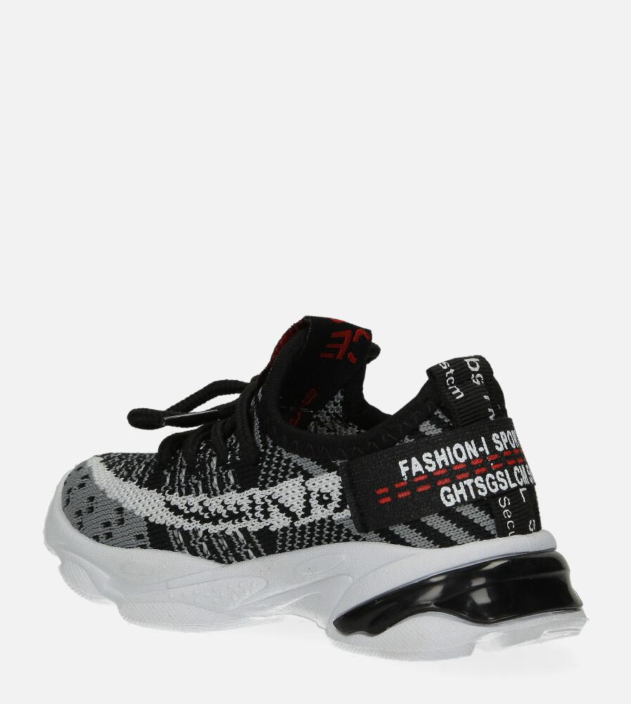 Czarne buty sportowe sznurowane Casu 2-21 kolor czarny, szary