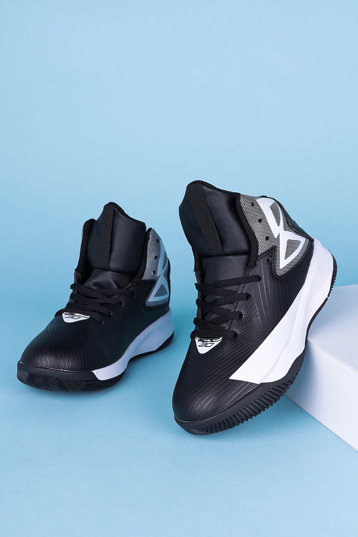 Czarne buty sportowe sznurowane Casu 201A/BW producent Casu