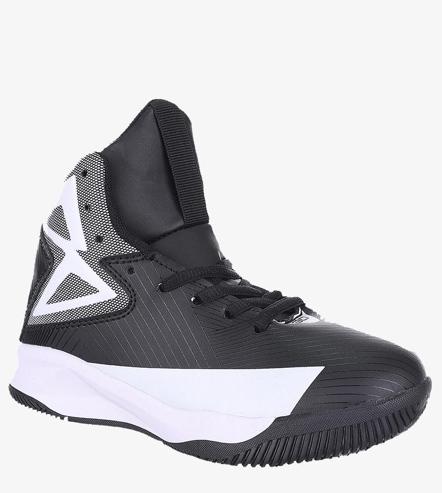 Czarne buty sportowe sznurowane Casu 201A/BW czarny