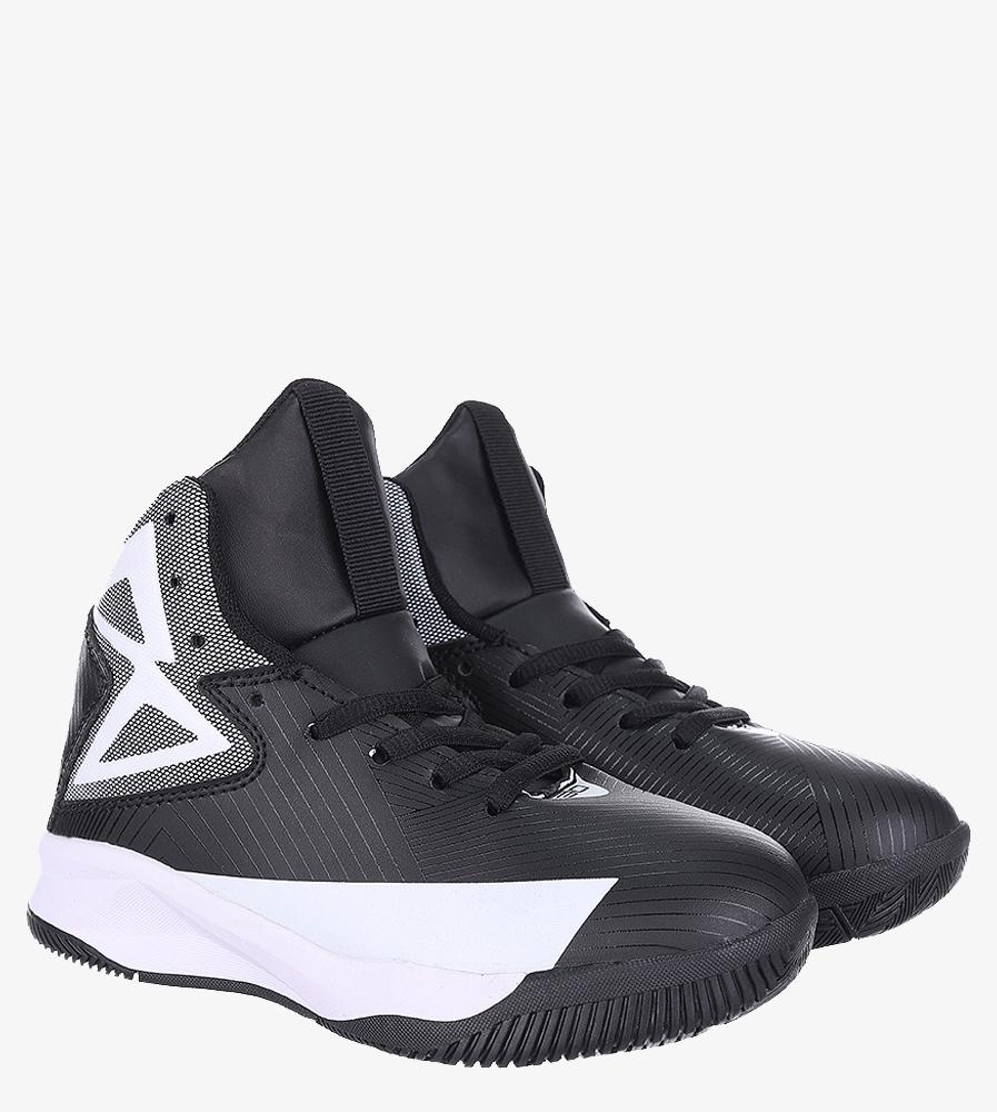 Czarne buty sportowe sznurowane Casu 201A/BW sezon Całoroczny