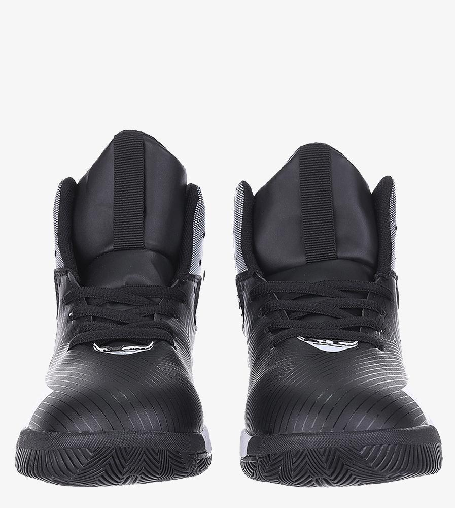 Czarne buty sportowe sznurowane Casu 201A/BW kolor biały, czarny