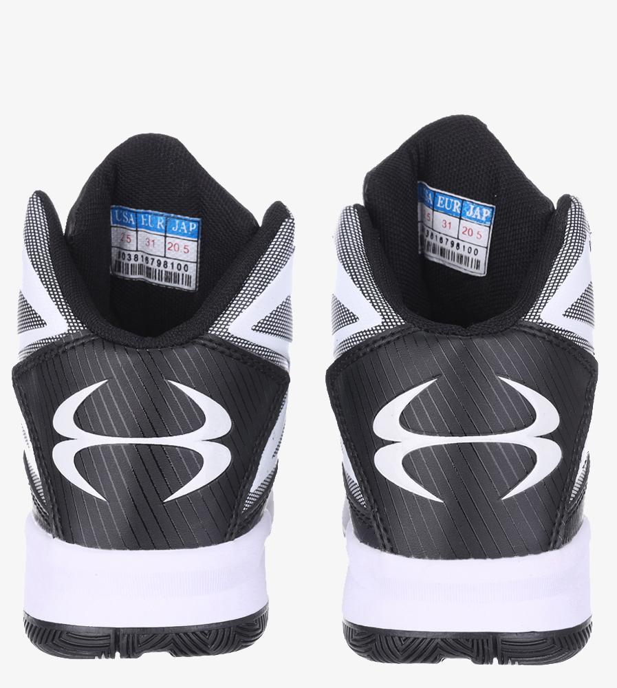 Czarne buty sportowe sznurowane Casu 201A/BW wysokosc_platformy 2 cm