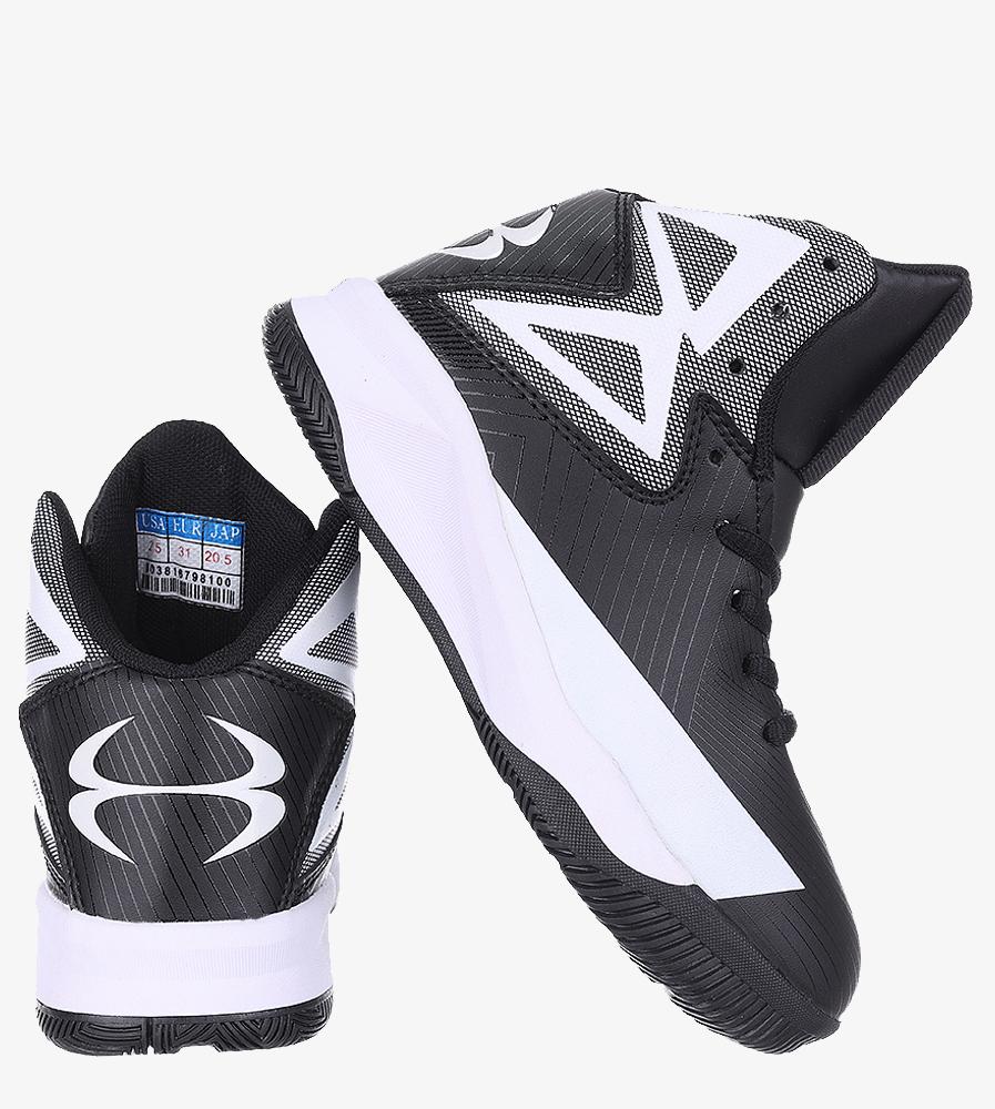 Czarne buty sportowe sznurowane Casu 201A/BW wys_calkowita_buta 13 cm