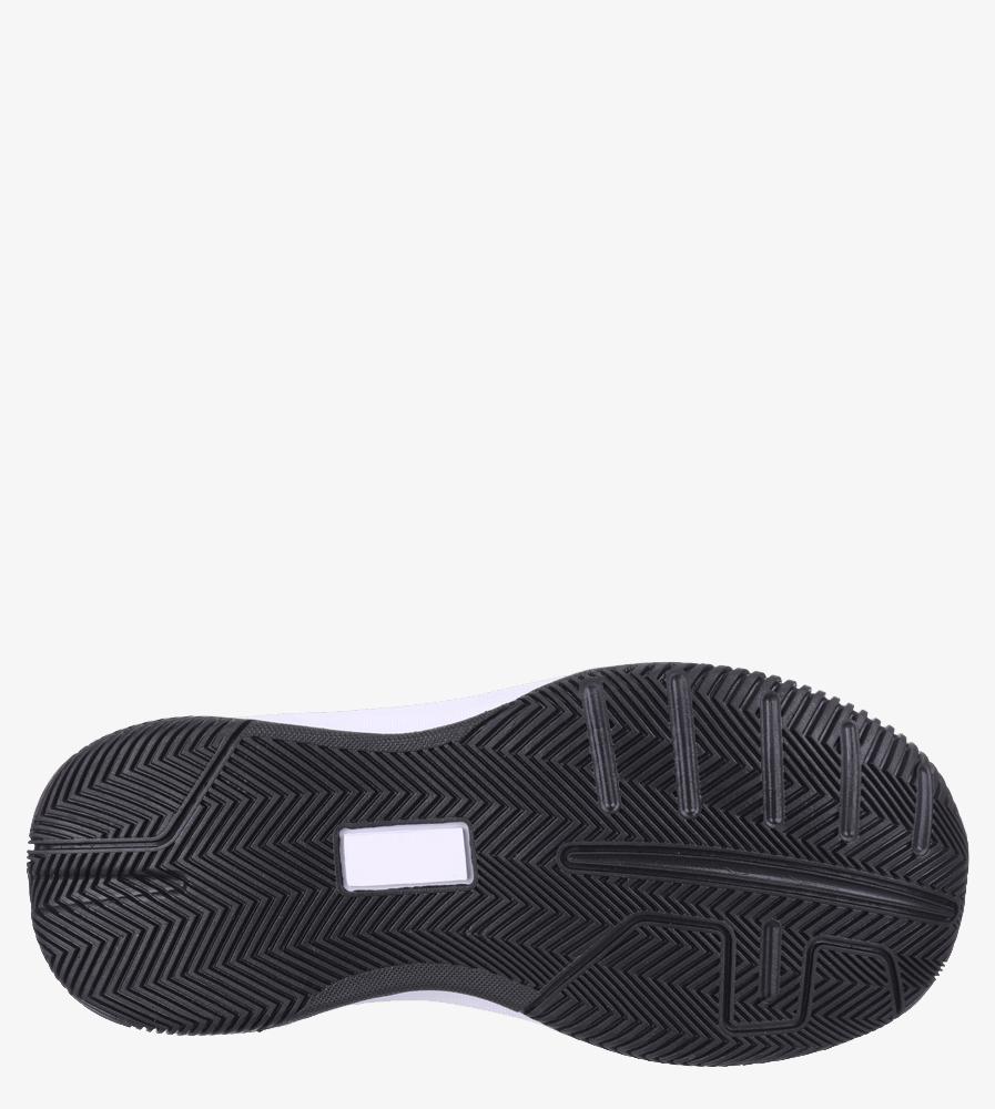 Czarne buty sportowe sznurowane Casu 201A/BW wierzch skóra ekologiczna