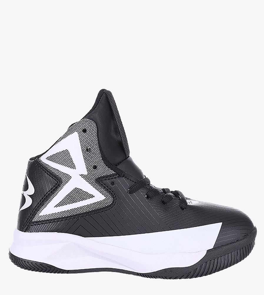 Czarne buty sportowe sznurowane Casu 201A/BW material_obcasa wysokogatunkowe tworzywo