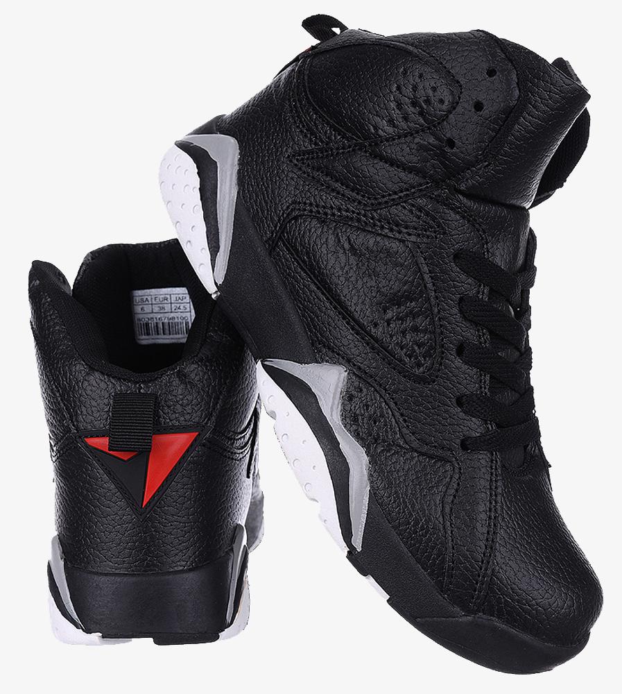 Czarne buty sportowe sznurowane Casu 201B/B czarny