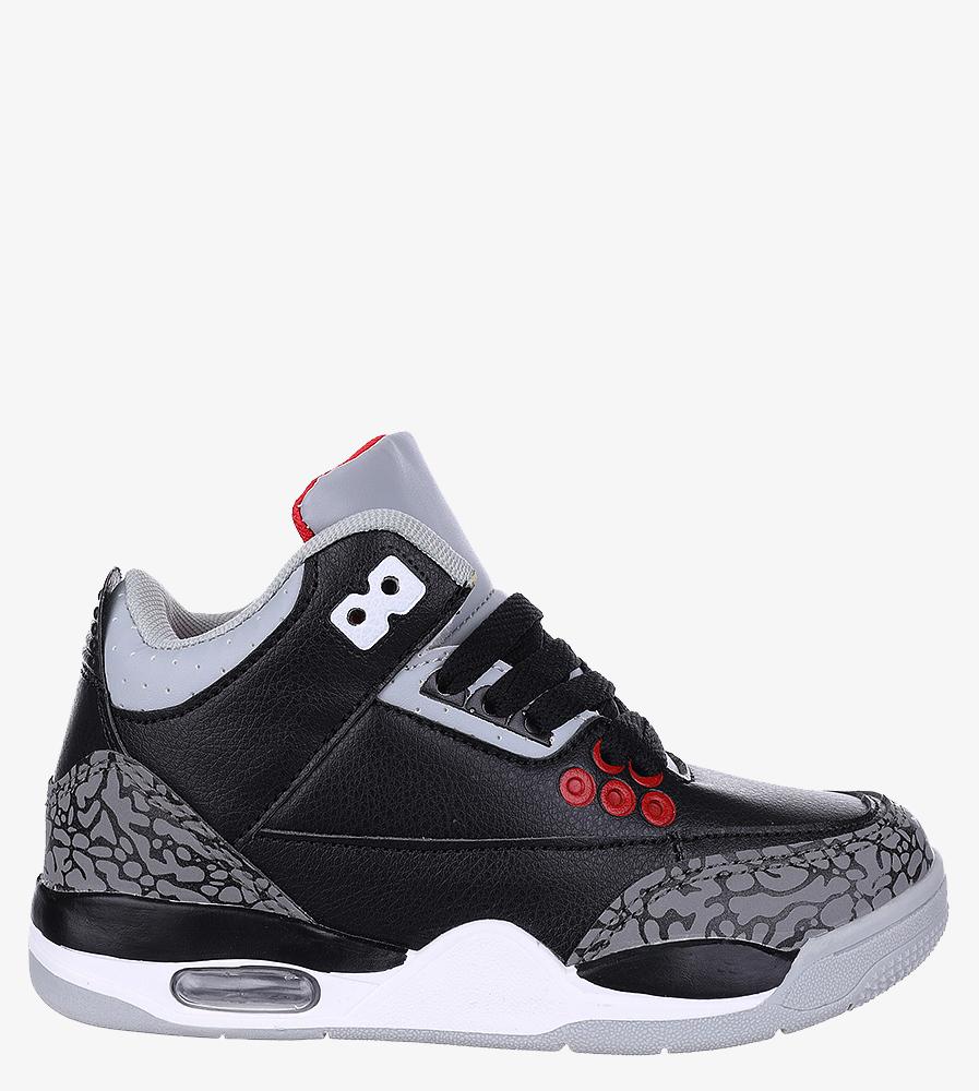 Czarne buty sportowe sznurowane Casu 201C/BG czarny