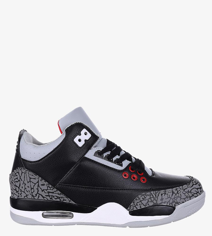 Czarne buty sportowe sznurowane Casu 201C/BG5 producent Casu