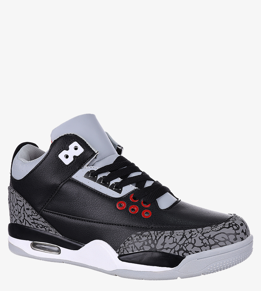 Czarne buty sportowe sznurowane Casu 201C/BG5 model 201C/BG5 625