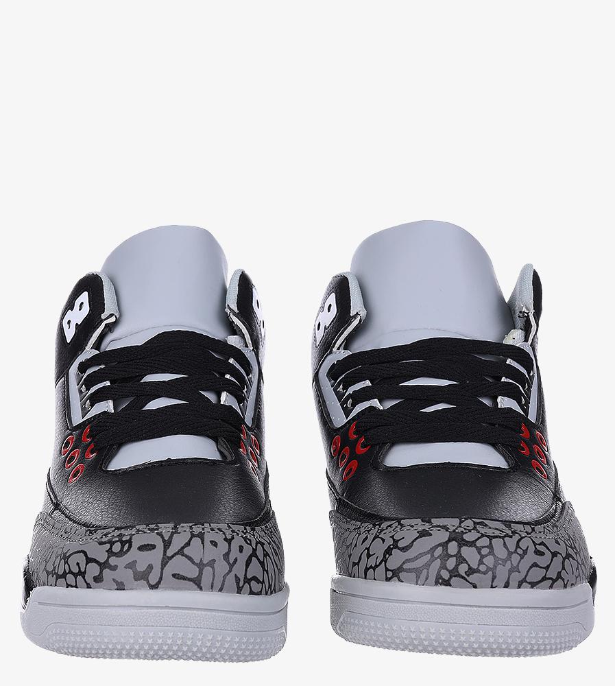 Czarne buty sportowe sznurowane Casu 201C/BG5 kolor czarny, szary