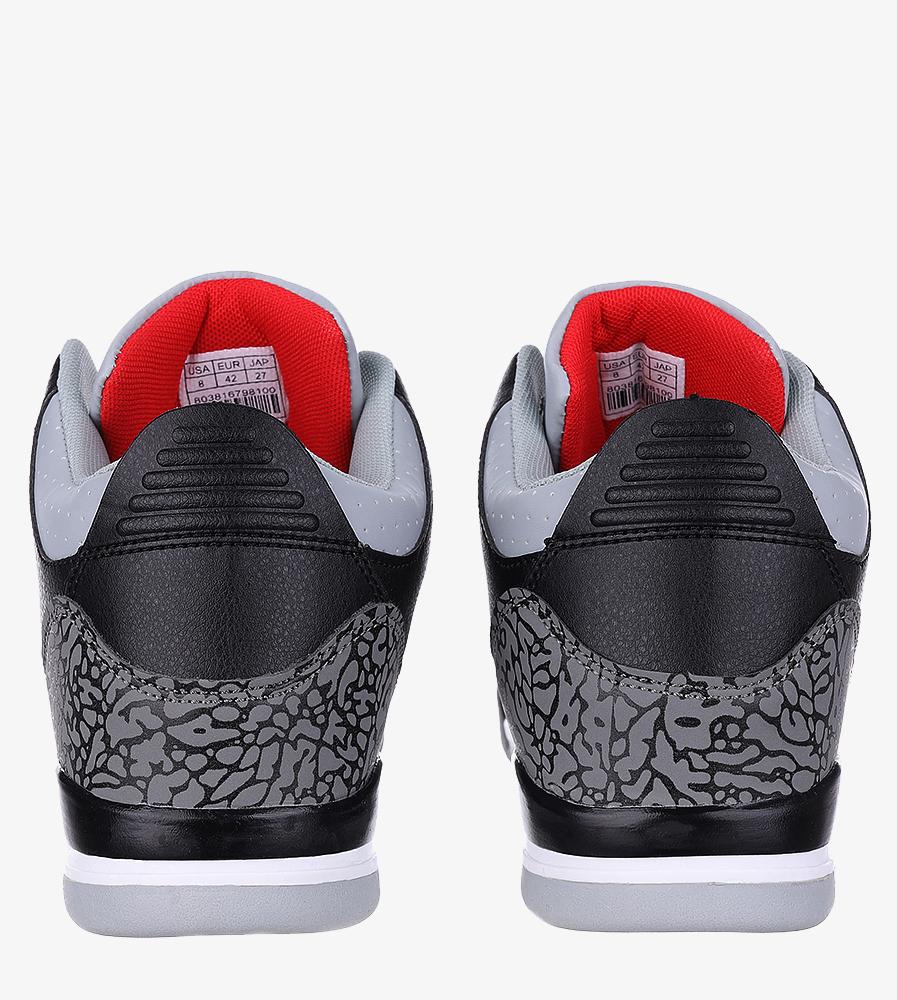 Czarne buty sportowe sznurowane Casu 201C/BG5 wysokosc_platformy 2 cm