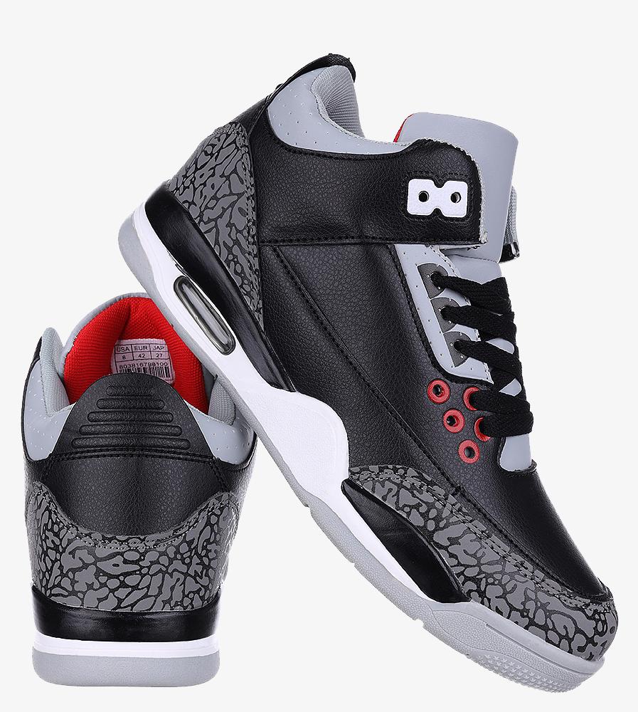 Czarne buty sportowe sznurowane Casu 201C/BG5 wys_calkowita_buta 15 cm