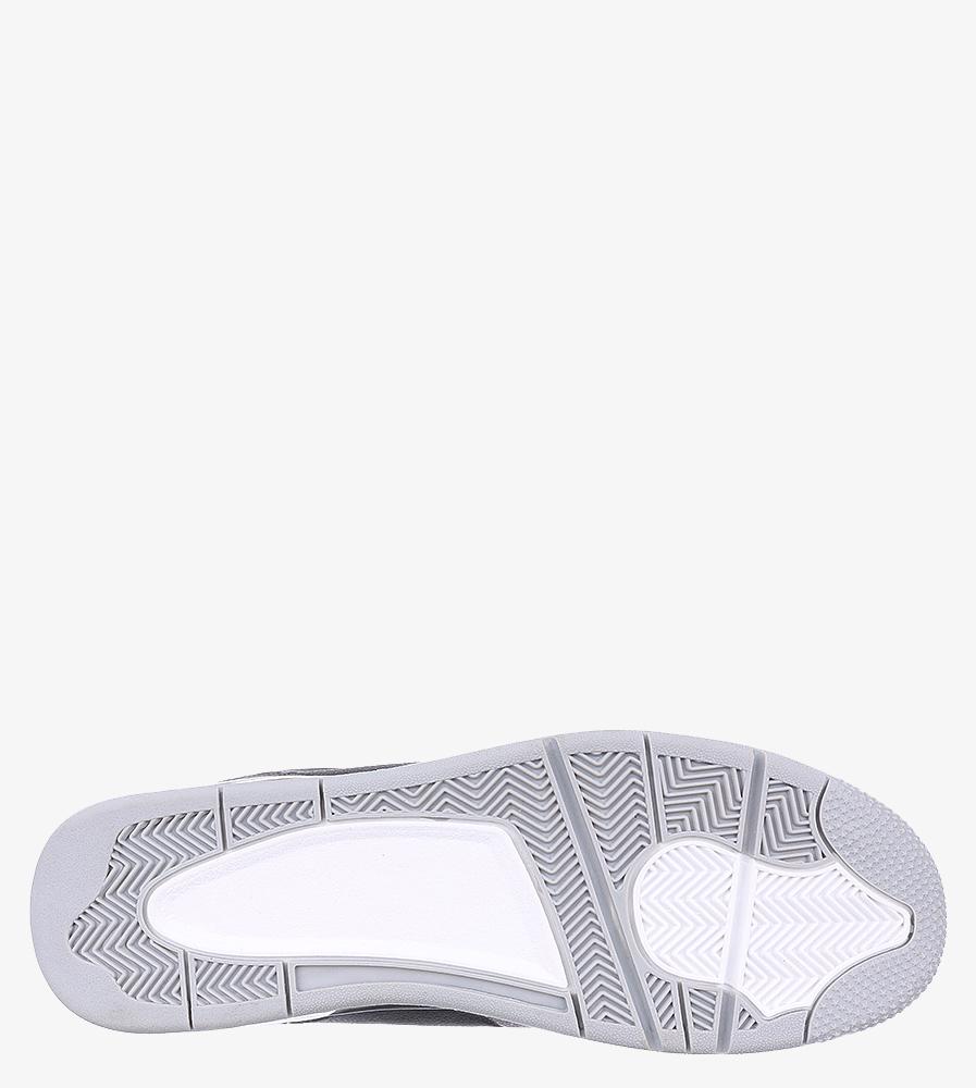 Czarne buty sportowe sznurowane Casu 201C/BG5 wierzch skóra ekologiczna