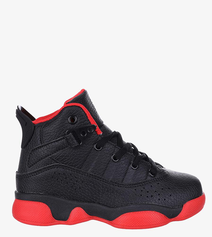 Czarne buty sportowe sznurowane Casu 201D/BR czarny