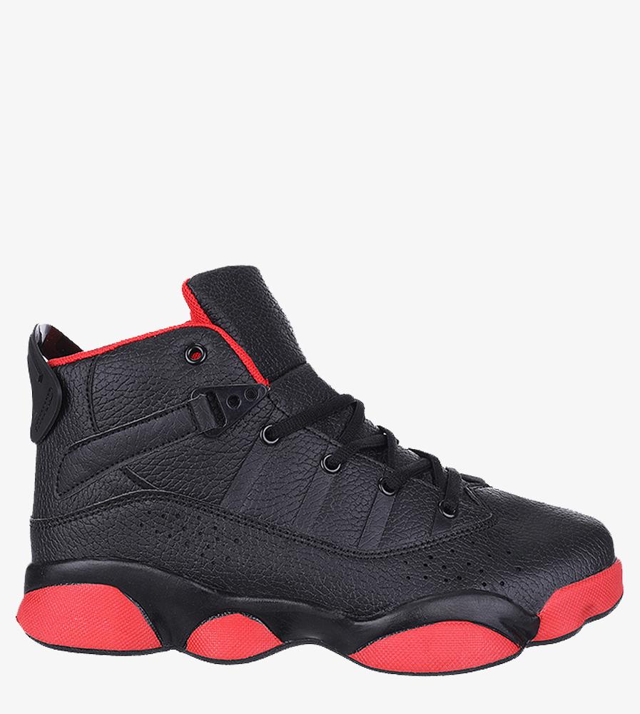 Czarne buty sportowe sznurowane Casu 201D/BR1