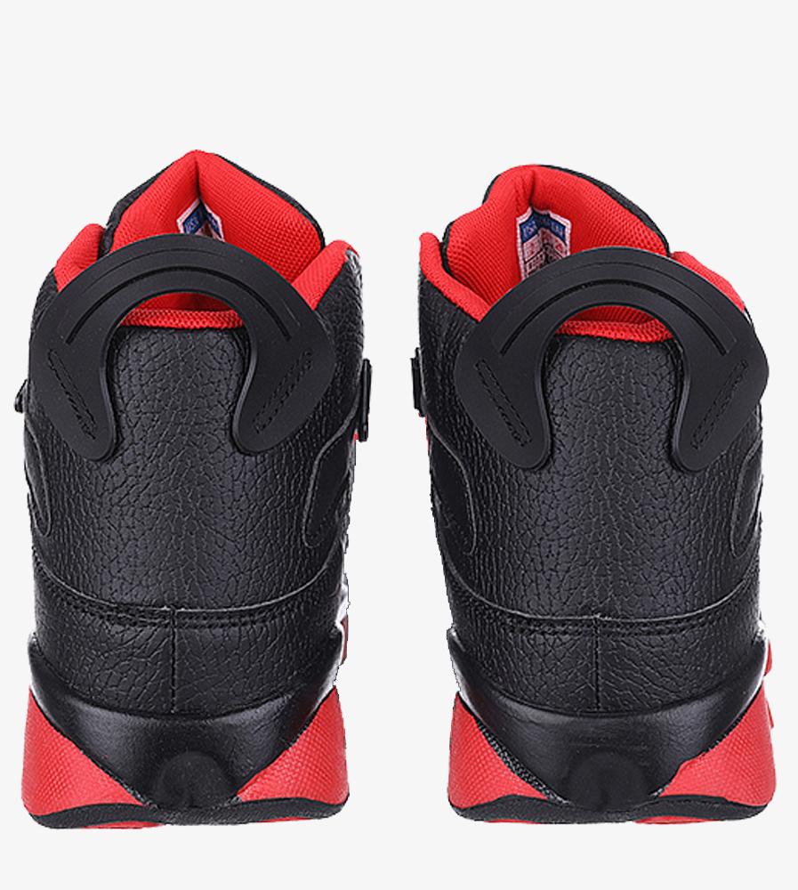 Czarne buty sportowe sznurowane Casu 201D/BR1 kolor czarny, czerwony