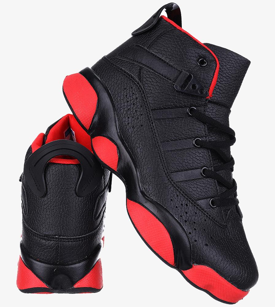Czarne buty sportowe sznurowane Casu 201D/BR1 wysokosc_platformy 2 cm