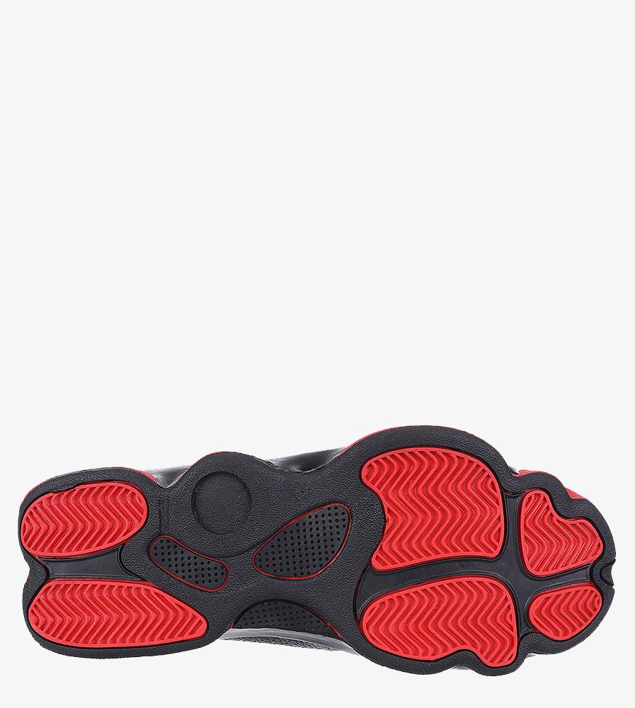 Czarne buty sportowe sznurowane Casu 201D/BR1 wys_calkowita_buta 15 cm