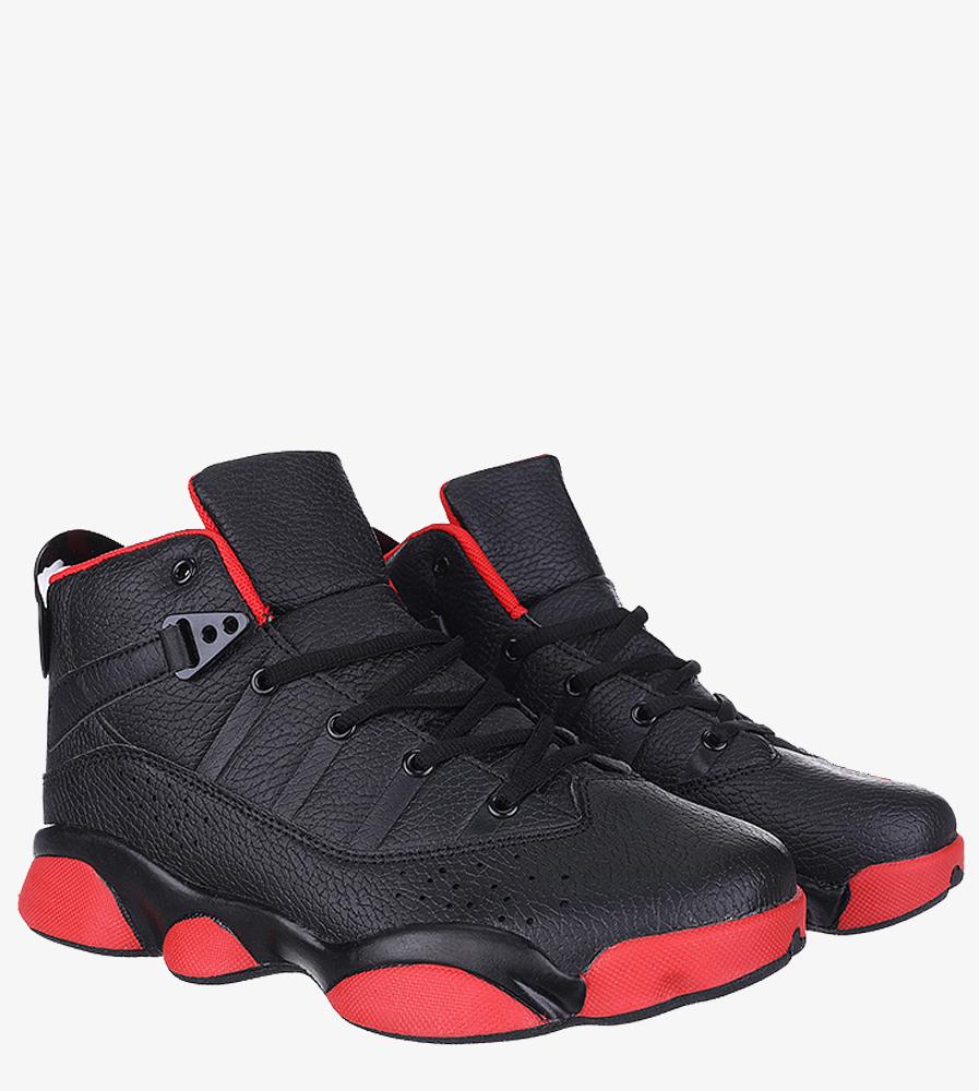 Czarne buty sportowe sznurowane Casu 201D/BR6 czarny