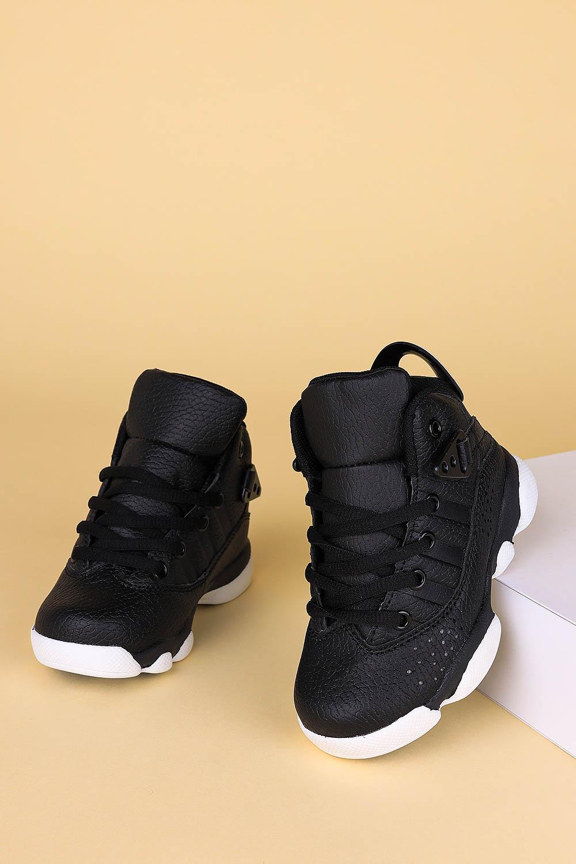 Czarne buty sportowe sznurowane Casu 201D/BW czarny