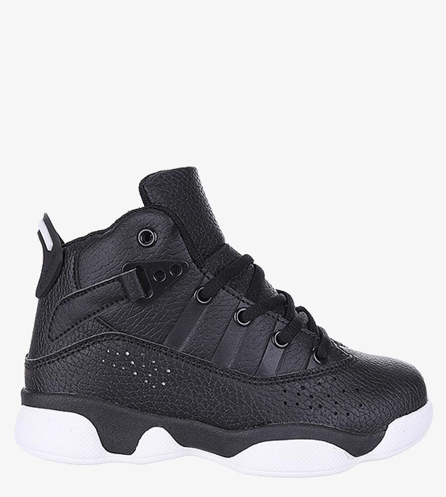 Czarne buty sportowe sznurowane Casu 201D/BW model 201D/BW S710