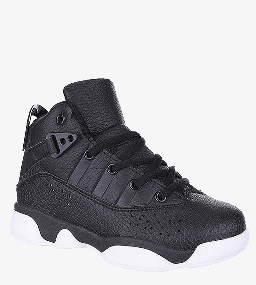 Czarne buty sportowe sznurowane Casu 201D/BW sezon Całoroczny
