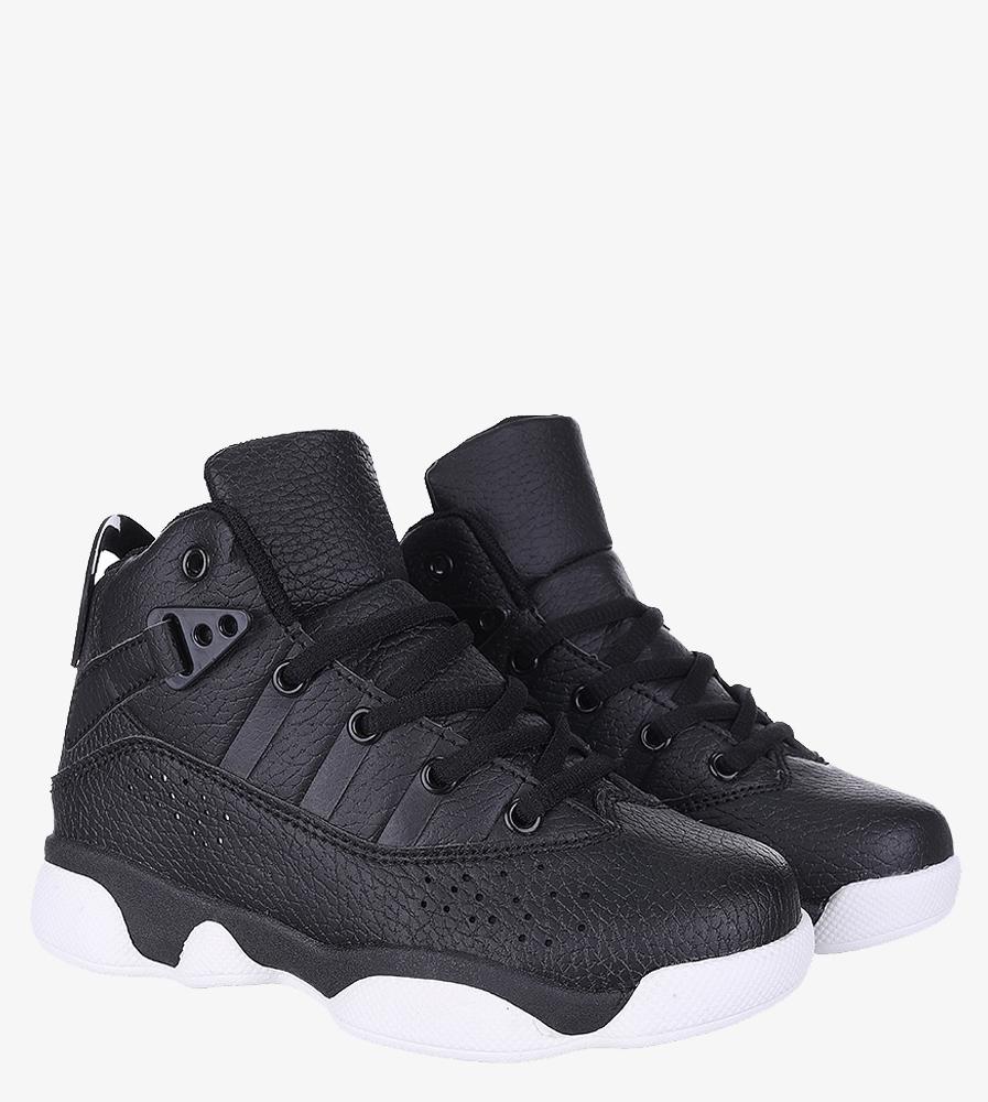 Czarne buty sportowe sznurowane Casu 201D/BW kolor biały, czarny