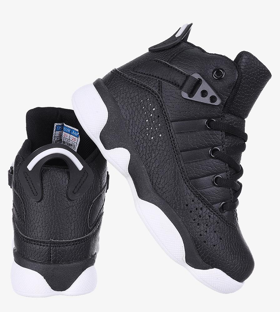 Czarne buty sportowe sznurowane Casu 201D/BW wysokosc_platformy 1 cm