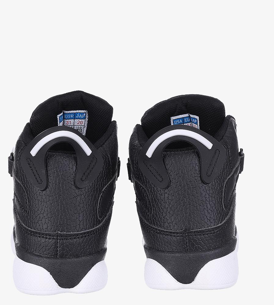 Czarne buty sportowe sznurowane Casu 201D/BW wys_calkowita_buta 11 cm