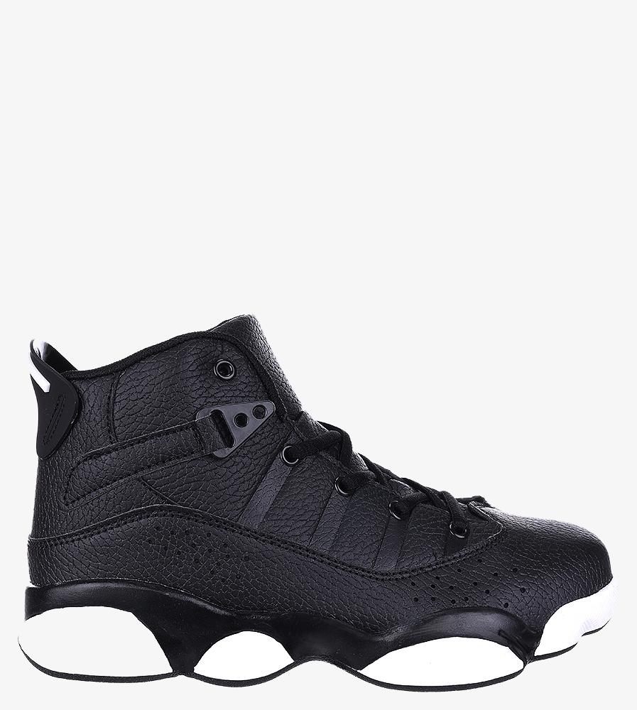 Czarne buty sportowe sznurowane Casu 201D/BW1 czarny