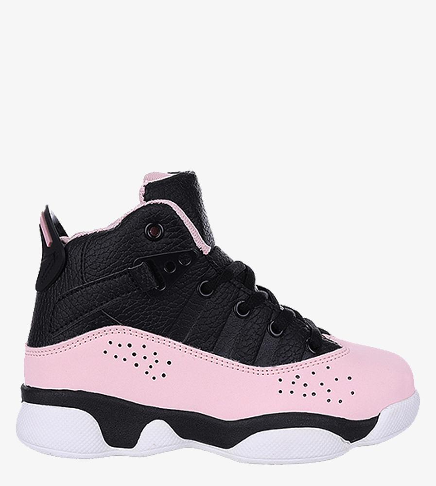 Czarne buty sportowe sznurowane Casu 201D/PB