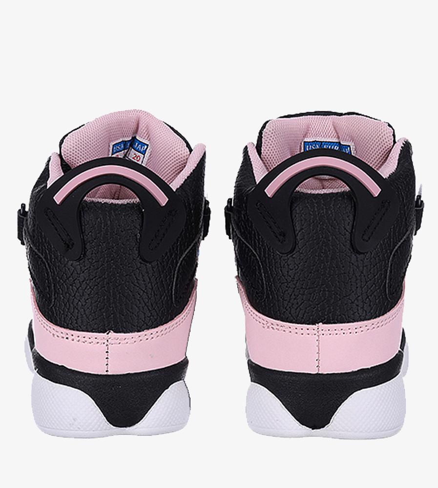 Czarne buty sportowe sznurowane Casu 201D/PB  wys_calkowita_buta 11 cm