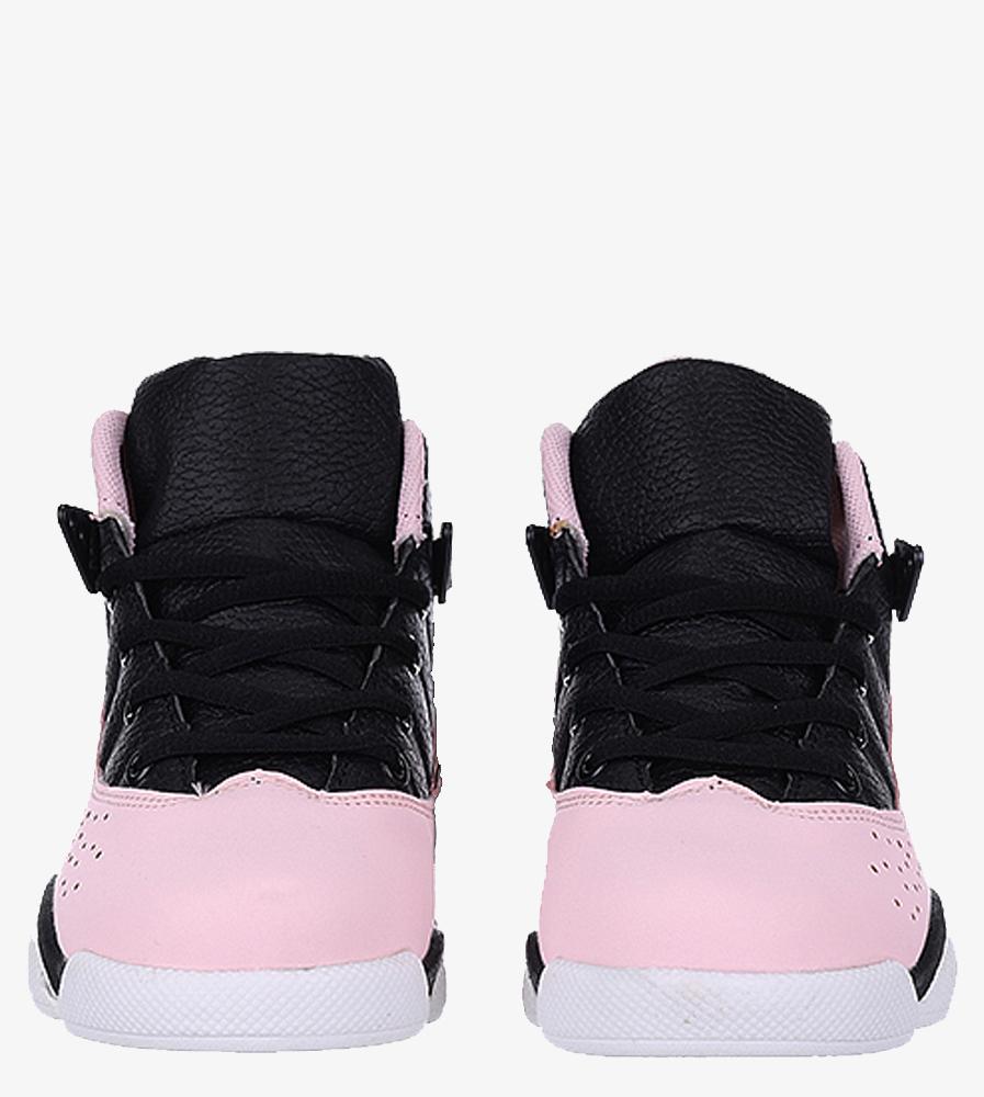 Czarne buty sportowe sznurowane Casu 201D/PB6 wysokosc_platformy 1.5 cm