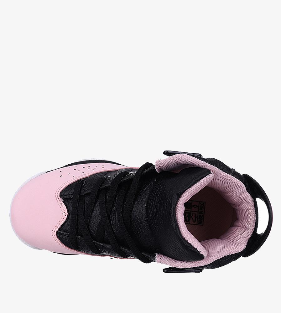 Czarne buty sportowe sznurowane Casu 201D/PB6 wnetrze materiał