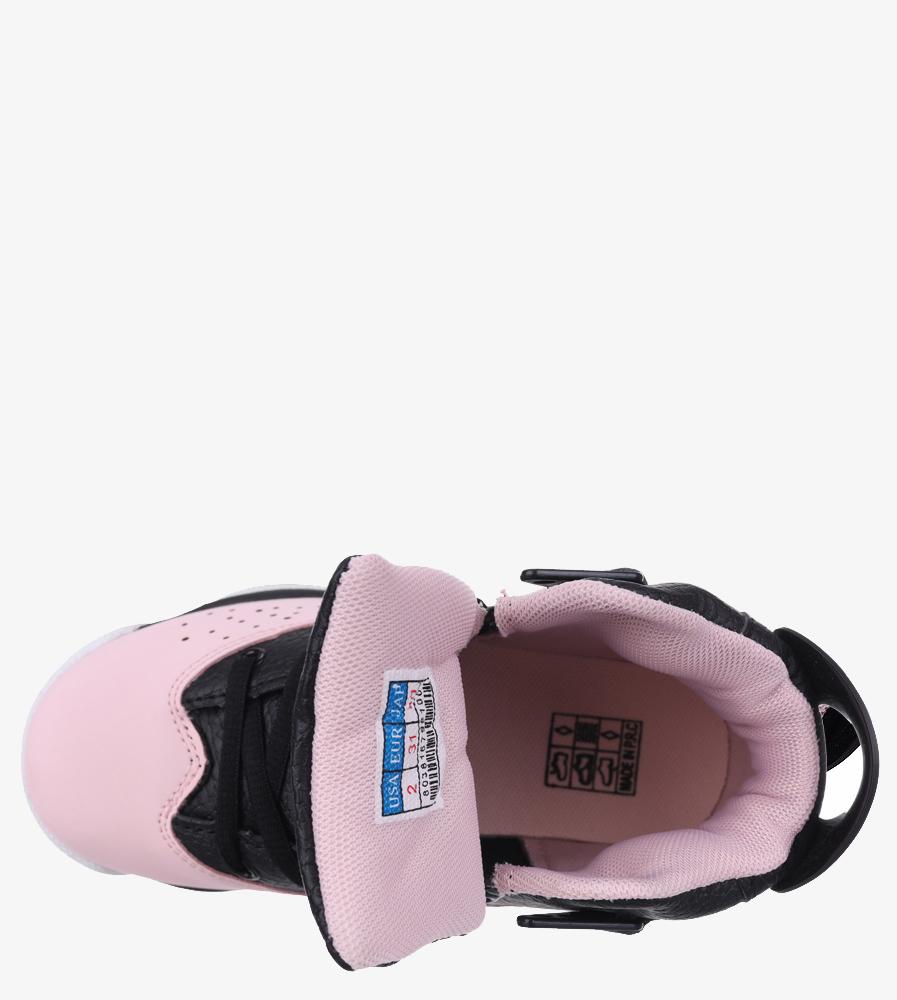 Czarne buty sportowe sznurowane Casu 201D/PB6 wkladka materiał