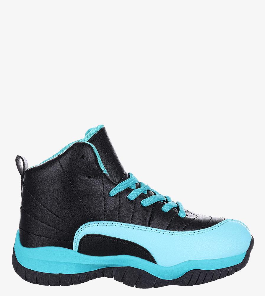 Czarne buty sportowe sznurowane Casu 201H/BM czarny