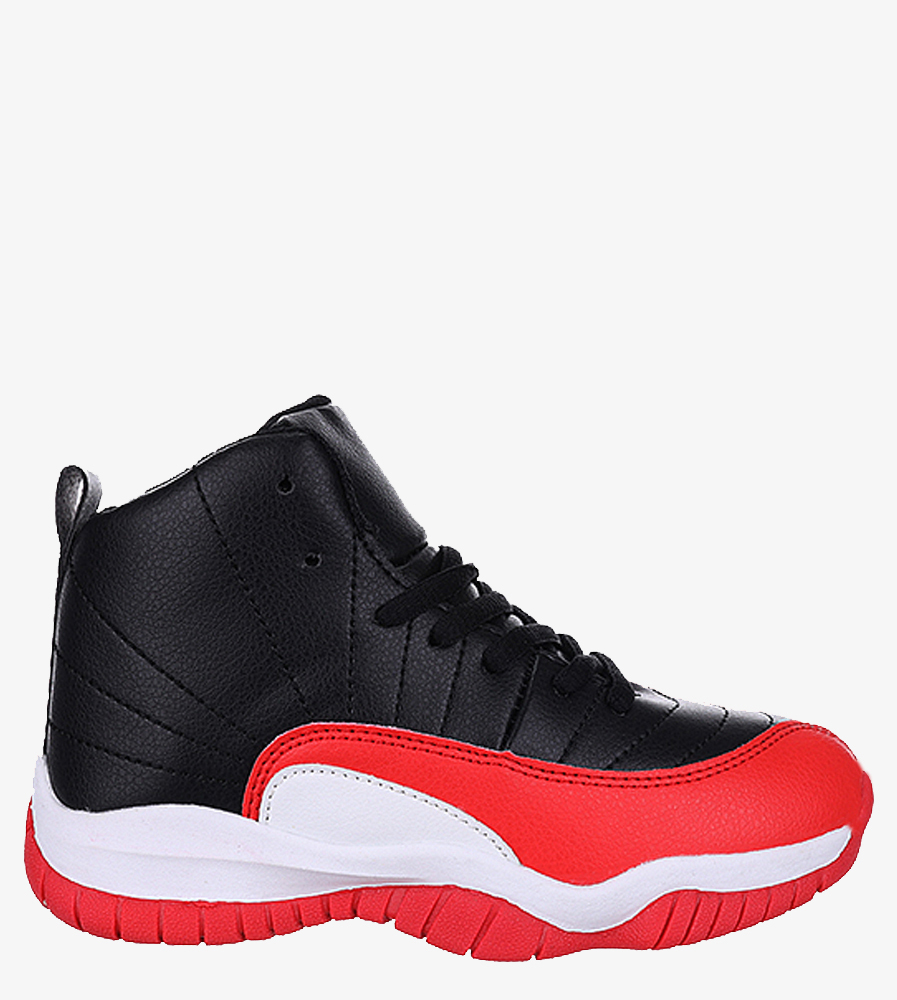 Czarne buty sportowe sznurowane Casu 201H/BR czarny
