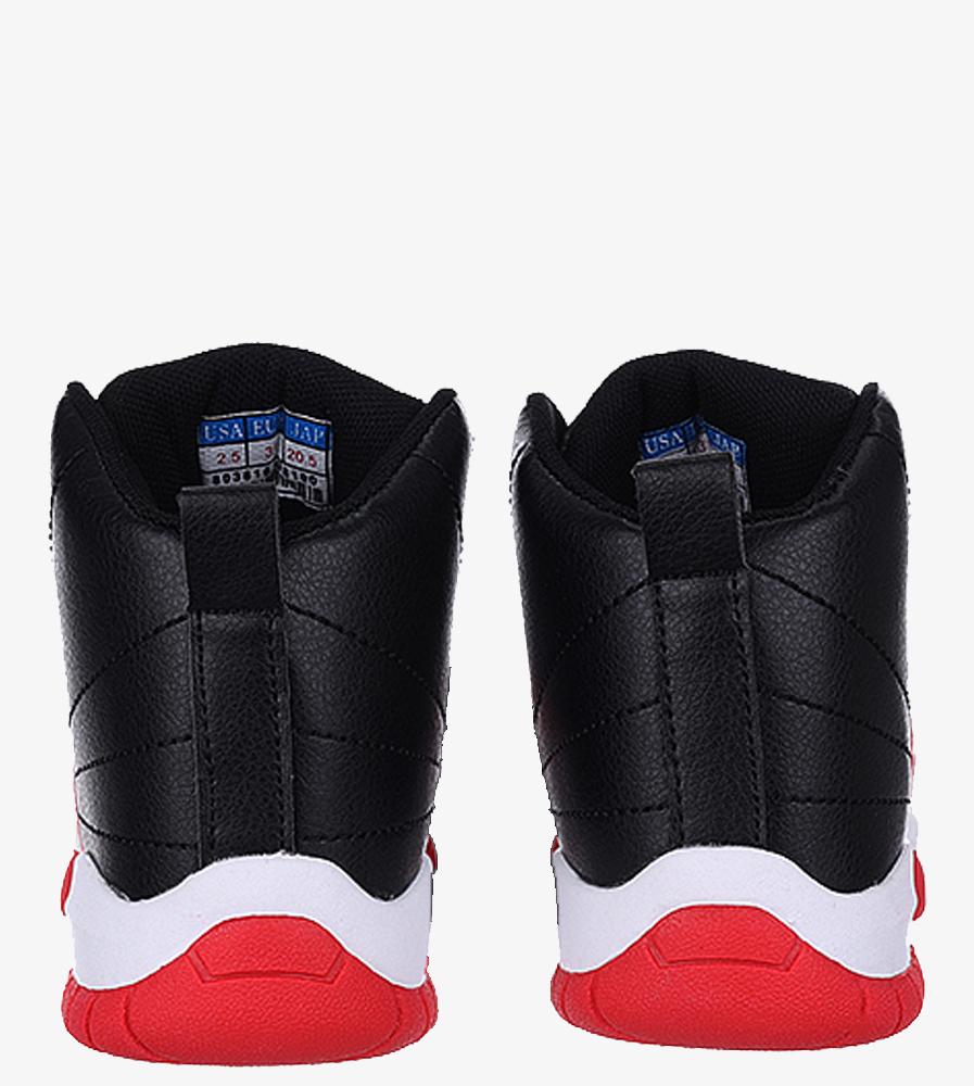 Czarne buty sportowe sznurowane Casu 201H/BR wys_calkowita_buta 12 cm