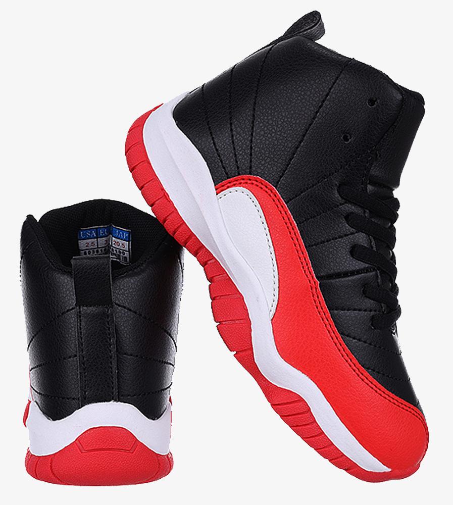 Czarne buty sportowe sznurowane Casu 201H/BR material_obcasa wysokogatunkowe tworzywo