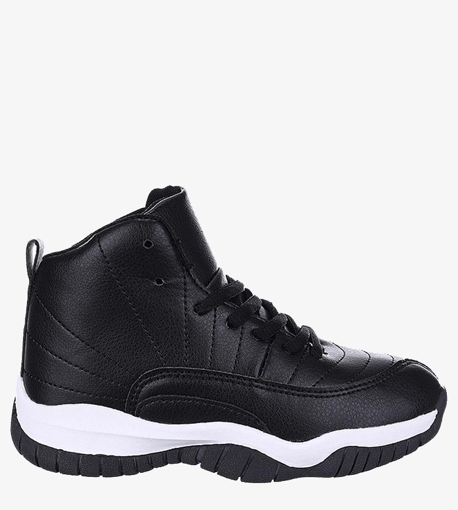 Czarne buty sportowe sznurowane Casu 201H/BW czarny